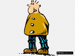 Standing Cartoon Man