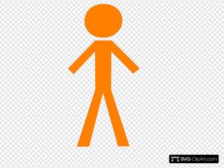 Stick Figure - Orange