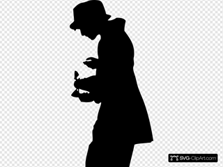 Silhouette Person With Hat
