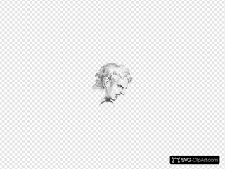 Face Expression Roman Man SVG Clipart
