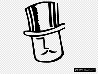 Cartoon Man Wearing Hat 2