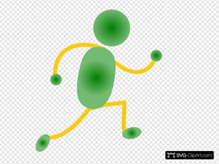 Green&yellow Jogging Man