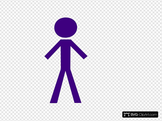 Purple Stick Man