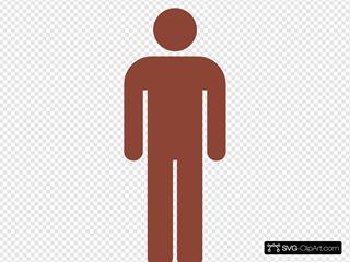 Toilet Man, Dark Brown SVG Clipart