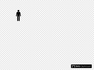 Man Icon  Black