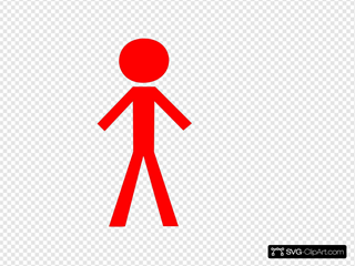 Red Stick Man SVG Clipart