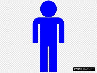 Blue Man Symbol Clipart