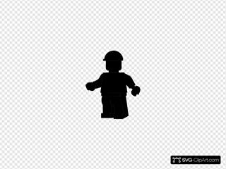 Lego Man SVG Clipart