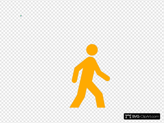 Yellow Walking Man