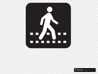 Pedestrian Crossing Black