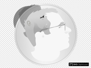 Man As A Coin SVG Clipart