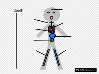 Stick Figure Pathophysiology Of Drowning SVG Clipart
