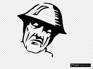 Man Wearing Helmet Silhuoette