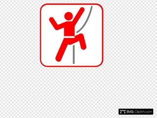 Red Stick Man Climber Red Frame