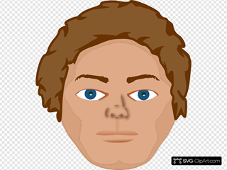 Young Man Face SVG Clipart
