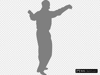 Dancing Man Gray