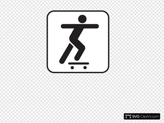 Skate Boarding White