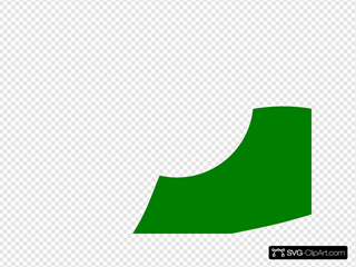 Green F SVG Clipart