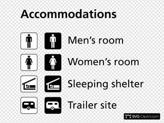 Accomodations Icons