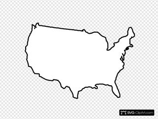 White Map Usa