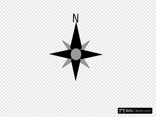 North Compass Direction SVG Clipart