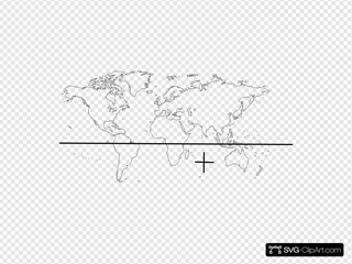 World Map With Continents And Caribbean Labelled