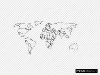 Blank Map White Background
