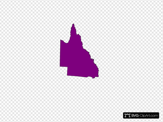 Qld Map  Sectional Purple