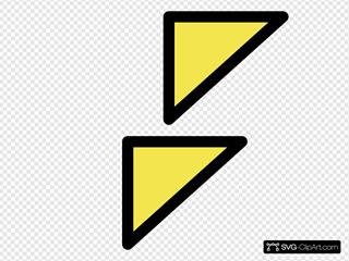 Cardinal Simple Buoy Symbol Sign