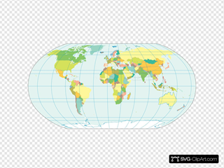 World Map In Colors - No Strip