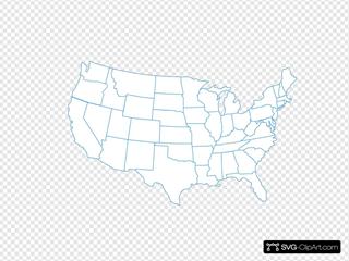 Turquoise U.s. Map