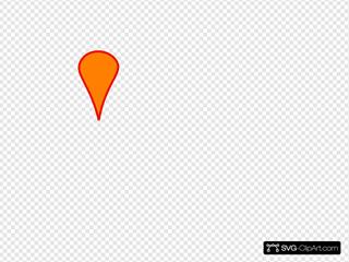 Orange Map Marker No Shadow