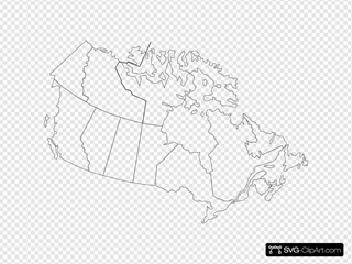 Canada Map SVG Clipart