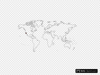 Apple Headquarters On World Map Clipart