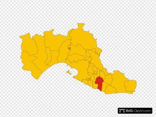Map Of Comune Of Lizzano Province Of Taranto Region Apulia Italy