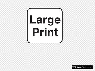 Large Print White