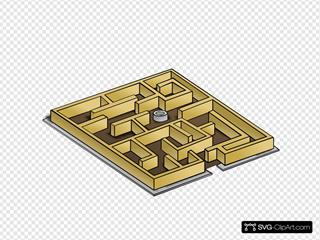 Rpg Map Maze Symbol