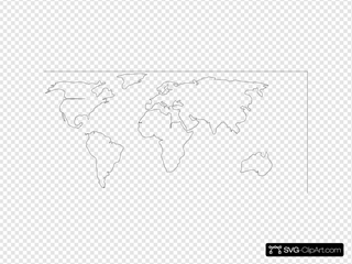 Blank Map White Background