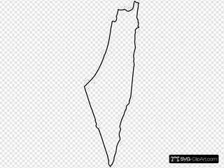 Blank Palestinian Map