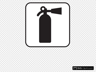 Fire Extinguisher White