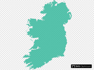 Grey Filled Map Of Ireland