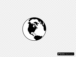 World Globe B&w