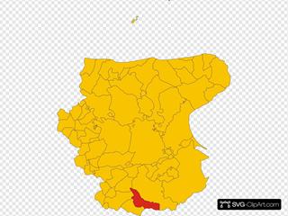 Map Of Comune Of Candela Province Of Foggia Region Apulia Italy
