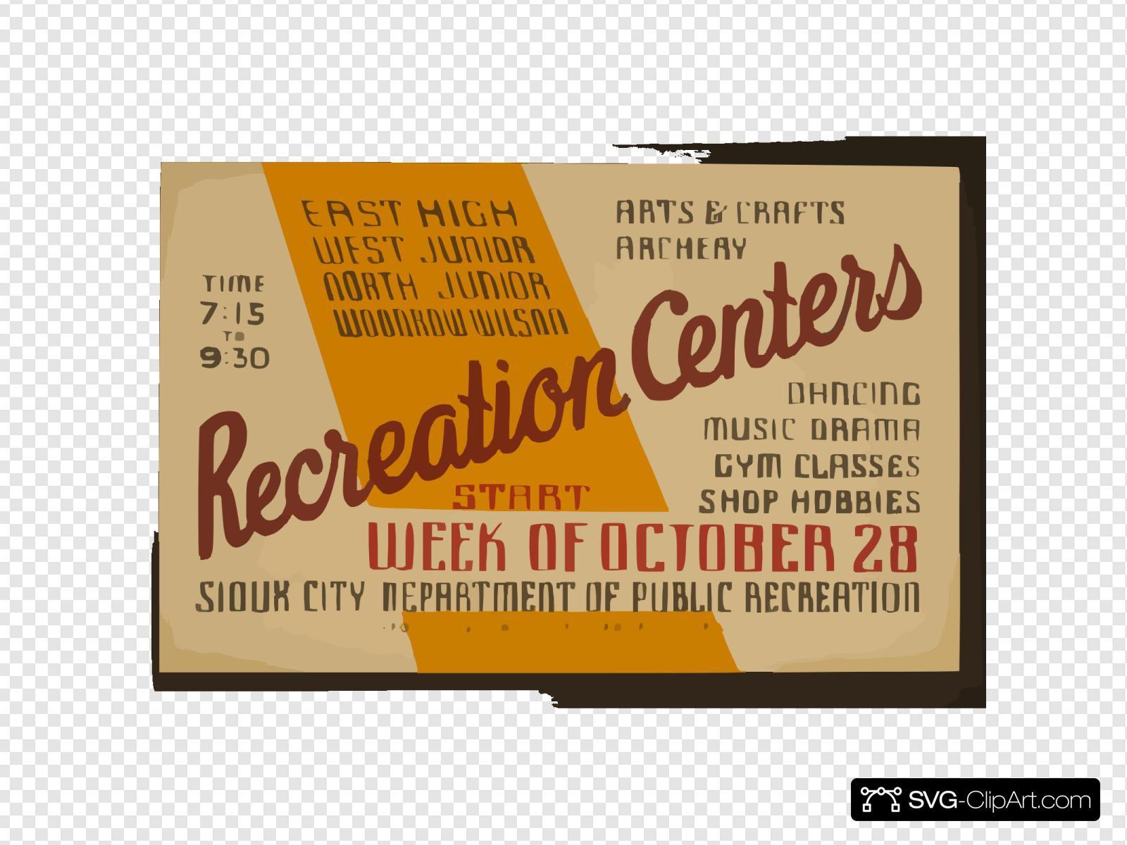 East High, West Junior, North Junior, Woodrow Wilson Recreation Centers Arts & Crafts, Archery, Dancing, Music, Drama, Gym Classes, Shop Hobbies / Poster By Iowa Art Program Wpa.