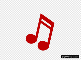 Red Music Note