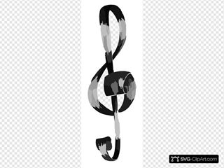 Clave De Sol By K Tyush SVG Clipart