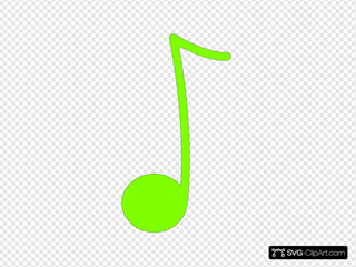 Green 8th Note