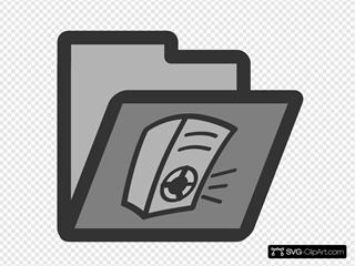 Audio Folder SVG Clipart