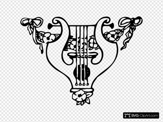 Lyre And Garland