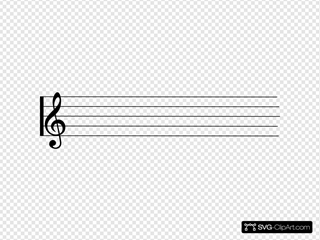 Music Staff SVG Clipart